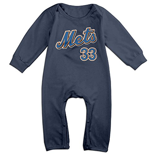 [KIDDOS Baby Infant Romper Matt Harvey Mets #33 Long Sleeve Jumpsuit Costume,Navy 24 Months] (Blues Clues Costumes Toddler)