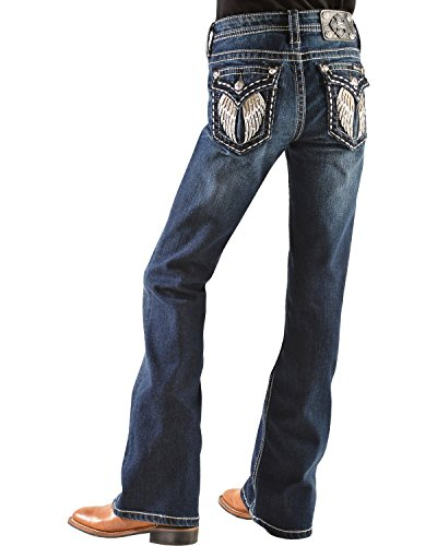 Miss Me Girls' Embellished Angel Wings Bootcut Jeans Denim 7 front-1062765