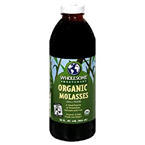 Wholesome Sweeteners Fair Trade Organic Molasses, 32-Ounce Bottles (Pack of 3)