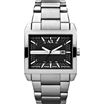 Armani Exchange Smart Black Dial Stainless Steel Mens Watch AX2200