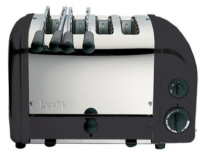 Dualit 42166 black combi 2+2 toaster by Dualit