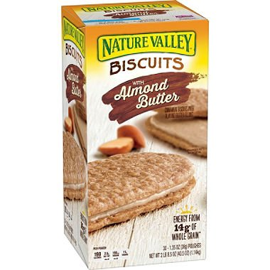 Nature Valley Sandwich Biscuit with Almond Butter (30 count), 1.35 oz/pouch from General Mills Sales Inc