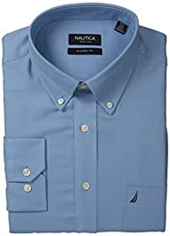 Nautica Men's Blue Texture Dress Shirt