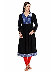 Aana Aana Raven Indigo Gathered Anarkali Small