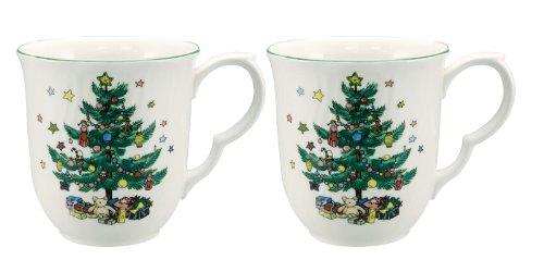 Nikko Happy Holidays Coffee Mug, 10-Ounce, Set of 2