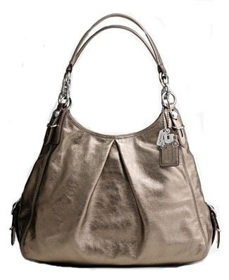 Coach Mia Leather Maggie Hobo Shoulder Bag 15741 Gunmetal