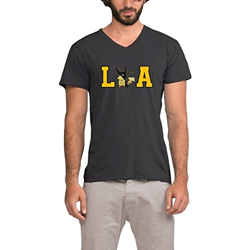 NOSOSO Pocket Monster Pokemon LA Short Sleeve Tees V-Neck T Shirts For Men (La Made V Pocket Tee compare prices)