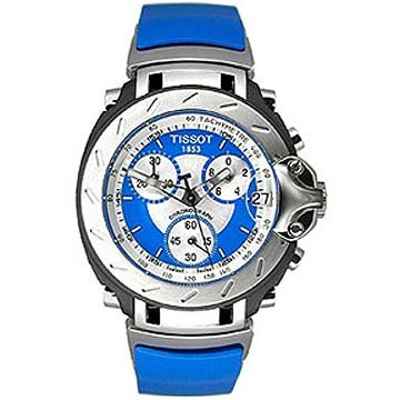 Tissot Men's T0114171704100 T-Race Chronograph Blue Rubber Strap Watch