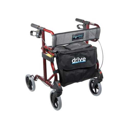 Drive Medical Diamond Aluminum Rollator Walker