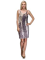 Curvy Q Sleeveless Womens Multicolor A Line Dress