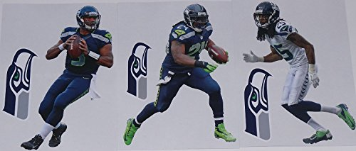 Seattle-Seahawks-FATHEAD-2015-Team-Set-of-6-Official-NFL-Vinyl-Wall-Graphics-WILSON-SHERMAN-LYNCH-7-INCHES-EACH