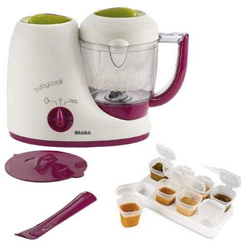 Beaba B2212 BabyCook 4 in 1 Feed Prep blender with Baby Cubes - Gipsy