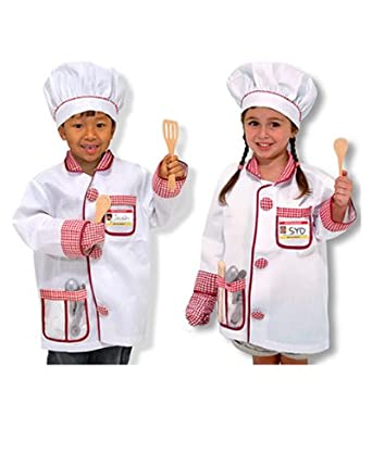 melissa doug chef costume deluxe role play set toys games. Black Bedroom Furniture Sets. Home Design Ideas