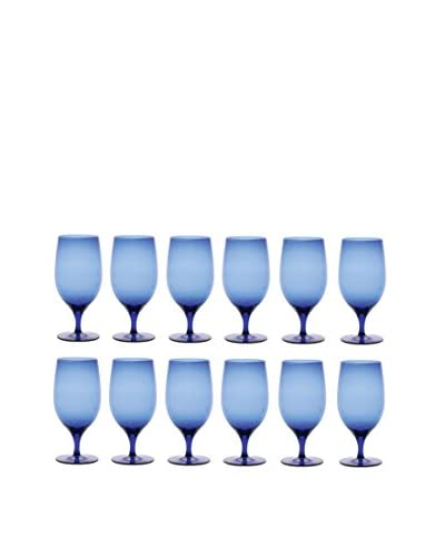 D&V Set of 12 Gala Goblets, Cobalt