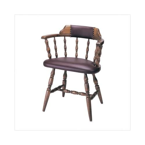 Solid wood captains chairs pine wooden