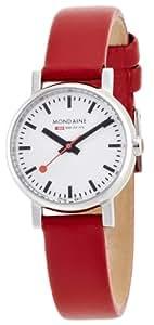 [モンディーン]MONDAINE 腕時計 エヴォ レディース ホワイト文字盤 レッドレザーストラップ A658.30301.11SBC レディース [正規輸入品]