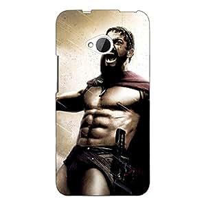 Jugaaduu King Leonidas Spartan Back Cover Case For HTC One M7