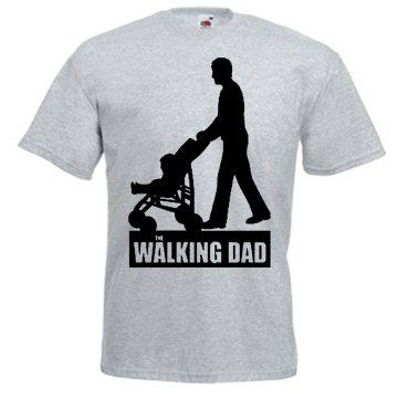 TRVPPY Uomo T-Shirt Maglietta Shirt Modello WALKING DAD, diversi colori e taglia