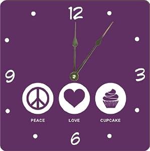 Amazon.com - Rikki KnightTM Peace Love Cupcake Purple Color Design