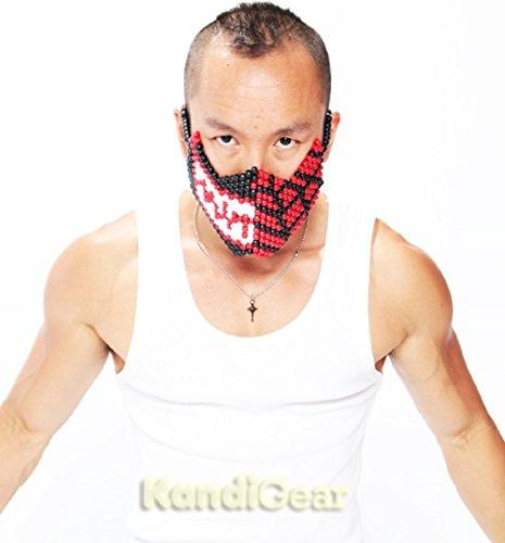 Beaded Masks At Raves – Villain or Hero Spiderman Venom Full Kandi Mask