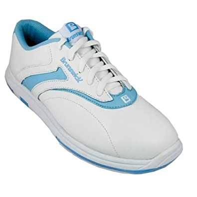 Buy Brunswick Ladies Silk White Blue bowling shoes by Brunswick