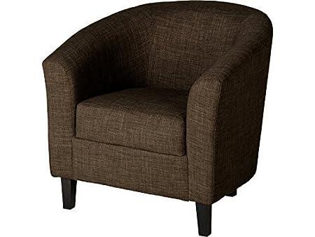 Seconique Tempo Sessel aus Kunstleder und Stoff, verschiedene Farben Traditionell dunkelbraun