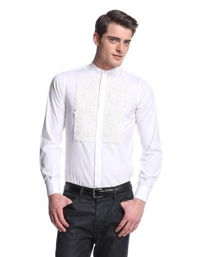 Dolce & Gabbana Men's Lace Bib Shirt