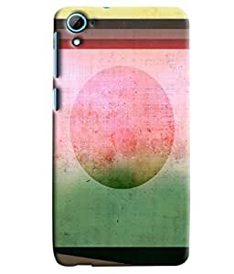 Blue Throat Old Stipes Patternprinted Designer Back Cover/ Case For HTC Desire 826