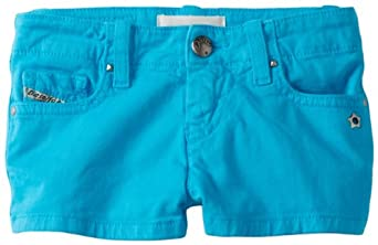 Diesel Big Girls' Prira Stretch Colored Short, Bright Blue, 14 Years