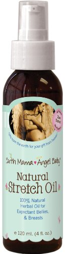 Earth Mama Angel Baby Natural Stretch Oil, 4-Ounce