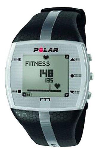 Cheap Polar Men's Heart Rate Monitor Watch (Black/Silver) (B006X1R4RM)