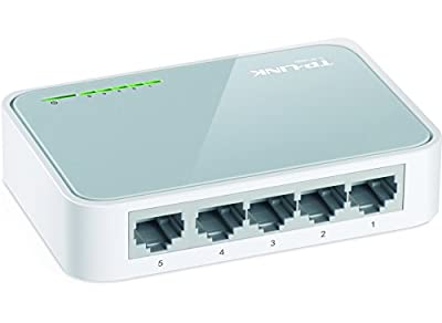 TP-LINK TL-SF1005D 5-Port 10/100 Mbps Unmanaged Desktop Switch - White