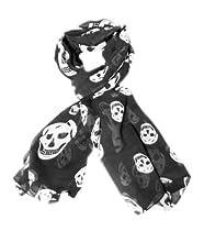 TdZ Fashion Scarf 64-inch Punk Skull Print (Black)