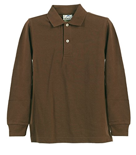 Picture Of Big Boys Girls Brown Long Sleeve School Uniform