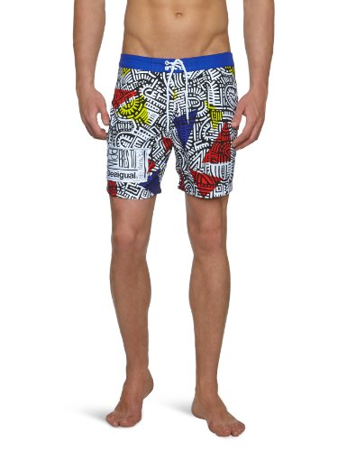 Desigual Bañador Graffiti Men's Swim Shorts Guayabo Small