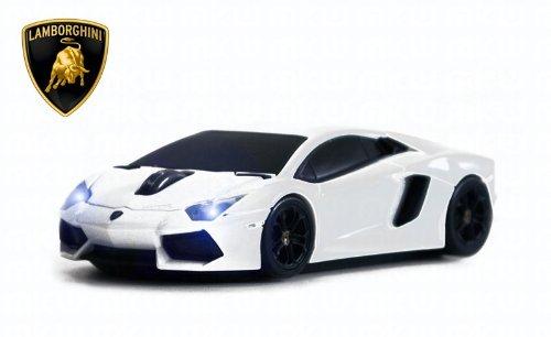 Lamborghini Aventador Kabellos Automaus Wireless Car-Mouse (Wei§)