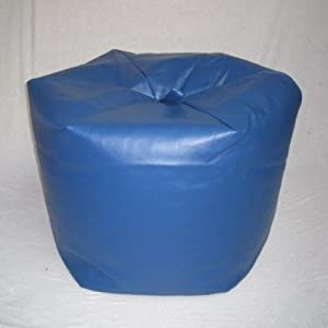 Extra Large Faux Leather Bean Bag Blue Teen Game Chair Gaming Hallways ®