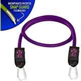 Bodylastics Individual Purple (23 lbs.) Resistance Band with Failsafe anti-snap technology and heavy duty quick clip at each end
