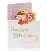 Lulu Age 5 Birthday Card