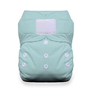 Thirsties Duo All in One Cloth Diaper with Hook and Loop, Aqua, Size 2