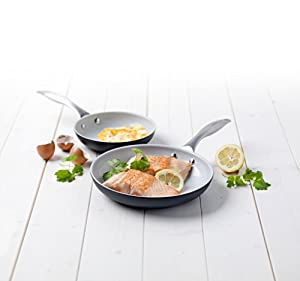 GreenLife 8 and 10 Inch Hard Anodized Non-Stick Ceramic Classic Fry Pan Set