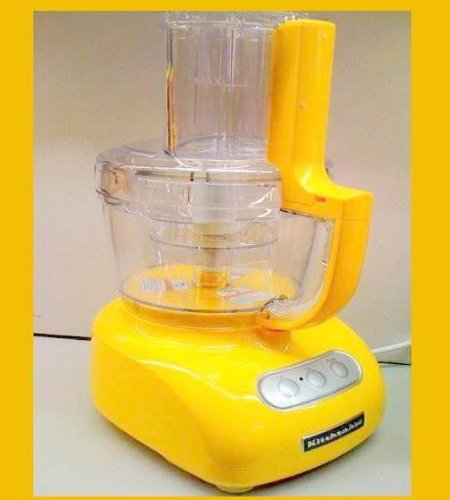 Kitchenaid Food processor 12 Cup ultra Wide Big Mouth Super Capacity kfpw761bf Yellow Buttercup Powerful 700-watt Motor slices, dices, chops, and purees polycarbonate almost Unbreakable Bowls.  Review