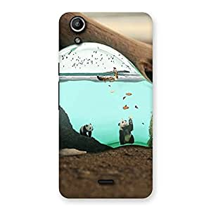Stylish Wonderful Bulb Multicolor Back Case Cover for Micromax Canvas Selfie Lens Q345