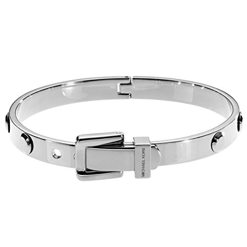 Michael Kors Astor Silver-tone Buckle Bangle Bracelet MKJ1820040