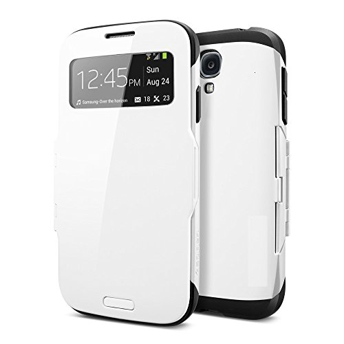 Kapa Armor S View sensor Anti shock Flip Case Cover for Samsung Galaxy S4 - White