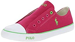 Polo Ralph Lauren Kids Carson Laceless Fashion Sneaker (Infant/Toddler/Little Kid), Fuchsia Canvas, 1.5 M US Infant