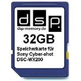 32GB Speicherkarte für Sony Cyber-shot DSC-WX200
