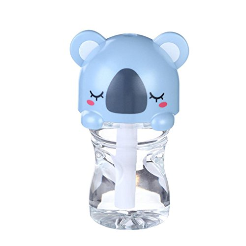 Inkach USB Mini Cartoon Bottle Cap Humidifier Office Air Diffuser (Blue) (Usb Water Bottle Cap Humidifier compare prices)
