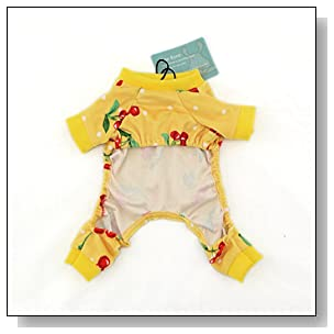 Cutebone Dog Pajamas Cherry Dog Apparel Dog Jumpsuit Pet Clothes Onesie Pajamas P07(XS)