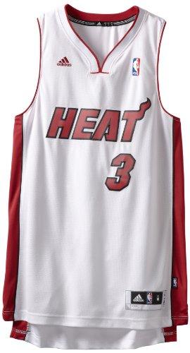 NBA Miami Heat Dwayne Wade Swingman Jersey, White, XX-Large